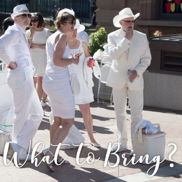 What to bring for Le Diner en Blanc - Singapore event on 12 May?
