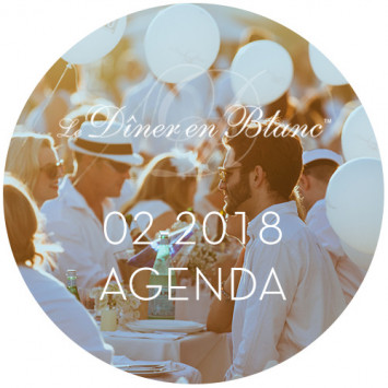 Le Diner en Blanc - February 2018 Calendar