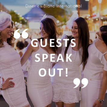 Le Diner en Blanc: guests speak out!