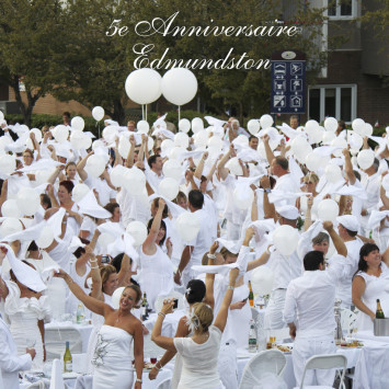 Le Dîner en Blanc d'Edmundston fête ses 5 ans !