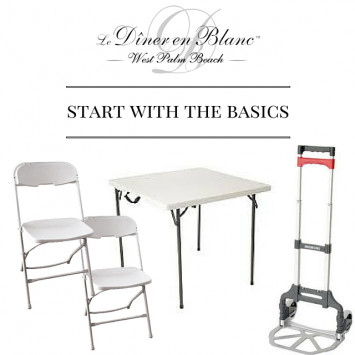 Instructions regarding Tables and Chairs