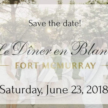 Save the Date Diner en Blanc Fort McMurray June 23rd, 2018