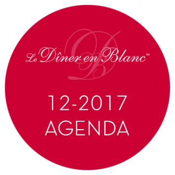Le Dîner en Blanc - Calendrier décembre 2017