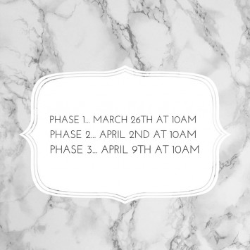 Mark Your Calendars - Phase Dates Announced!