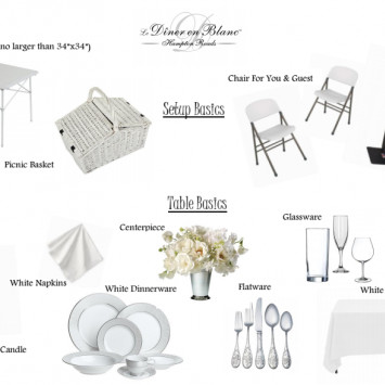 Buy/Rent/All-Inclusive Table and Chair Options