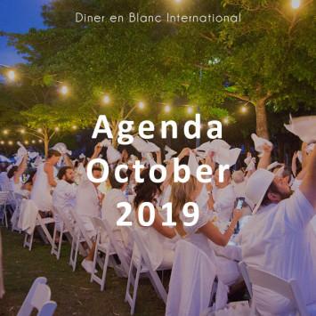 Le Diner en Blanc – October 2019 Agenda