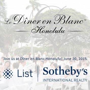 List Sotheby's: Proud Partner of Diner en Blanc Honolulu
