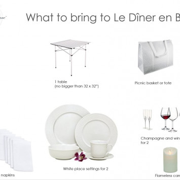 What to bring to Diner en Blanc!