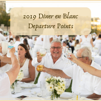 2019 Cincinnati Diner en Blanc Departure Points