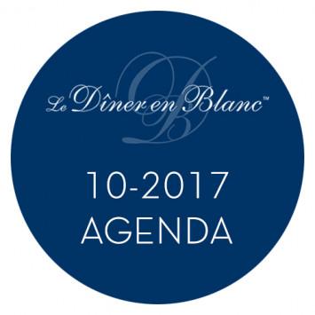 Le Dîner en Blanc - Calendrier octobre 2017