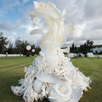 Une sculpture environnementaliste pour Le Dîner en Blanc - Honolulu