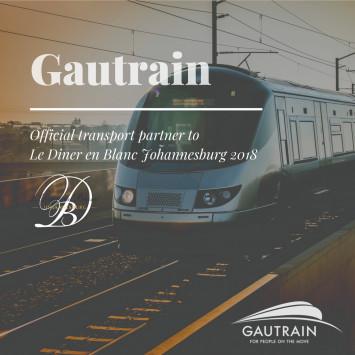 Gautrain partners with Le Diner en Blanc Johannesburg 2018