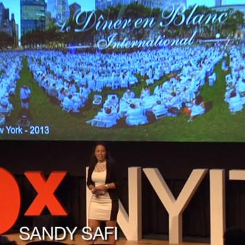Sandy Safi - Co founder of Dîner en Blanc International at TEDx NYC 2013