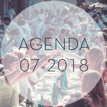 Le Dîner en Blanc - July 2018 Calendar