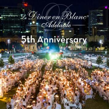 Le Dîner en Blanc - Adelaide fête ses 5 ans !