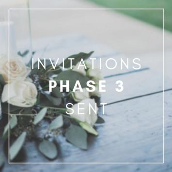 Phase 3 : Invitations sent !