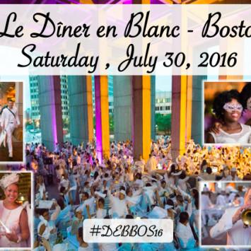 Diner en Blanc Returns to Boston!  July 30, 2016