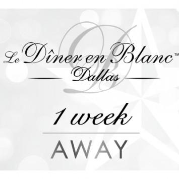 Diner en Blanc Dallas - One Week Away!