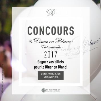 Concours Gagnez votre place au Dîner en Blanc de Victoriaville