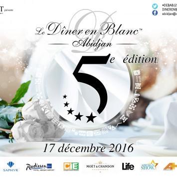 Dîner en Blanc Abidjan 2016 - Phase 1 - Début des Inscriptions le 21 Novembre