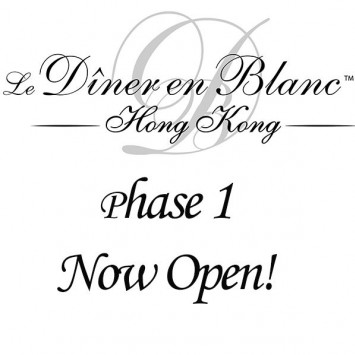 Tickets sales for Diner En Blanc - Hong Kong has started