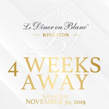 Less than 4 Weeks Away to Diner En Blanc Kingston