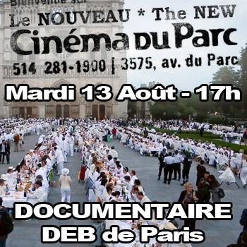 Projection du documentaire: Dîner en Blanc: the World's Largest Dinner Party