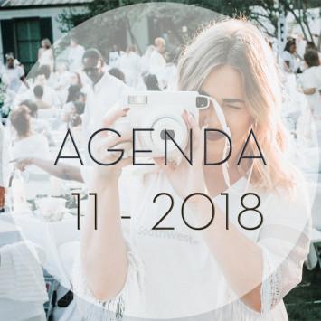 Le Dîner du Blanc – November 2018 Agenda