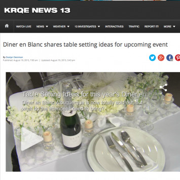 KRQE News 13 -Table Inspiration