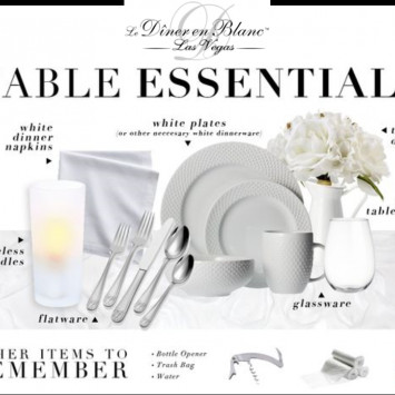 Your 2018 Diner En Blanc What to Bring Check List
