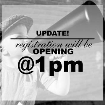 Phase 1 Registration begins TODAY @1 PM