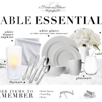 Preparing for Diner en Blanc: Table Essentials!