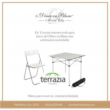 Compra de mesas y sillas