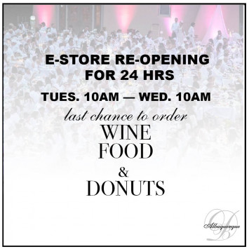 E-STORE re-opening for 24hrs