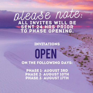 Invitation Release Schedule