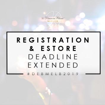 REGISTRATION & ESTORE DEADLINE EXTENDED to 20.11.19