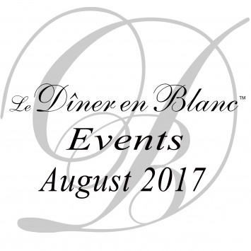 Le Dîner en Blanc - August Calendar 2017!