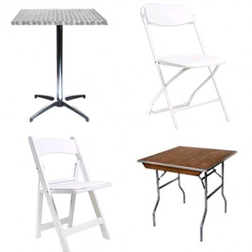 Where to find tables and chairs?