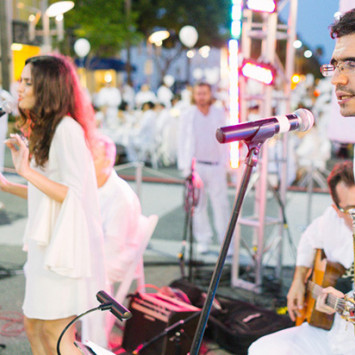 Performing Artists of Los Angeles' first Dîner en Blanc