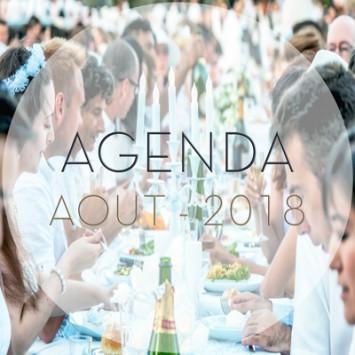 Le Dîner en Blanc - August 2018 Calendar