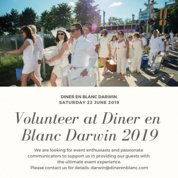 Volunteer at Diner en Blanc Darwin
