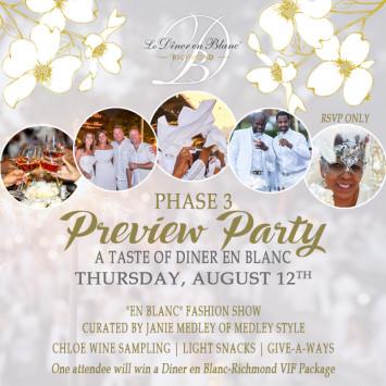 Phase 3 Preview - A Taste of Diner en Blanc Richmond
