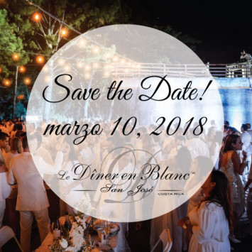Save the Date! Diner en Blanc San Jose Costa Rica 2017