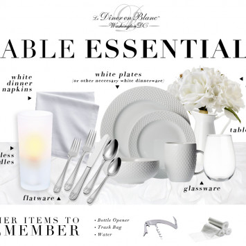 Preparing for Diner en Blanc: Table Essentials!
