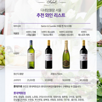What to drink at Dîner en Blanc Seoul: WINE & CHAMPAGNE