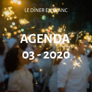 Le Dîner en Blanc - March 2020 Calendar
