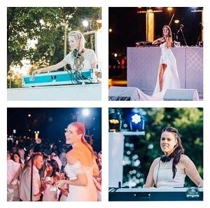 Performing artists of the Melbourne Diner en Blanc 2017