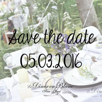 Save the Date - Diner en Blanc San Jose CR 2016