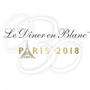 Convite para o 30º aniversário do Le Dîner en Blanc de Paris – 3 de junho 2018