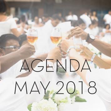 Le Dîner en Blanc Calendar of Events May 2018